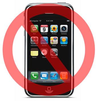 No iPhones!