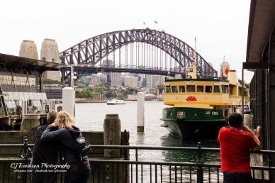 All aboard! The Lady Herron waits to take passengers across to Taronga Zoo.