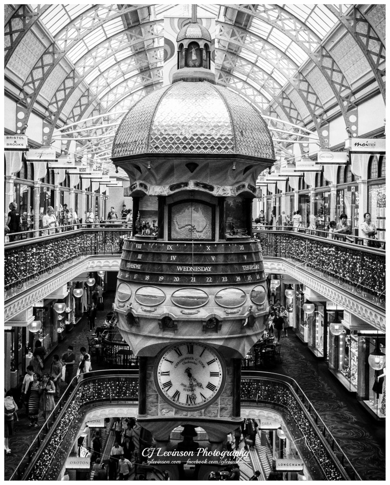 The Great Australia Clock in the Queen Victoria Building