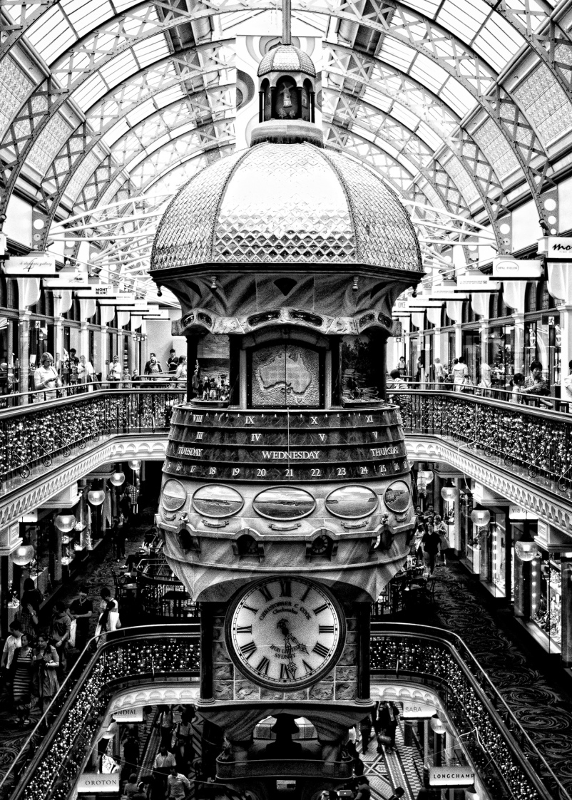The Great Clock in the QVB