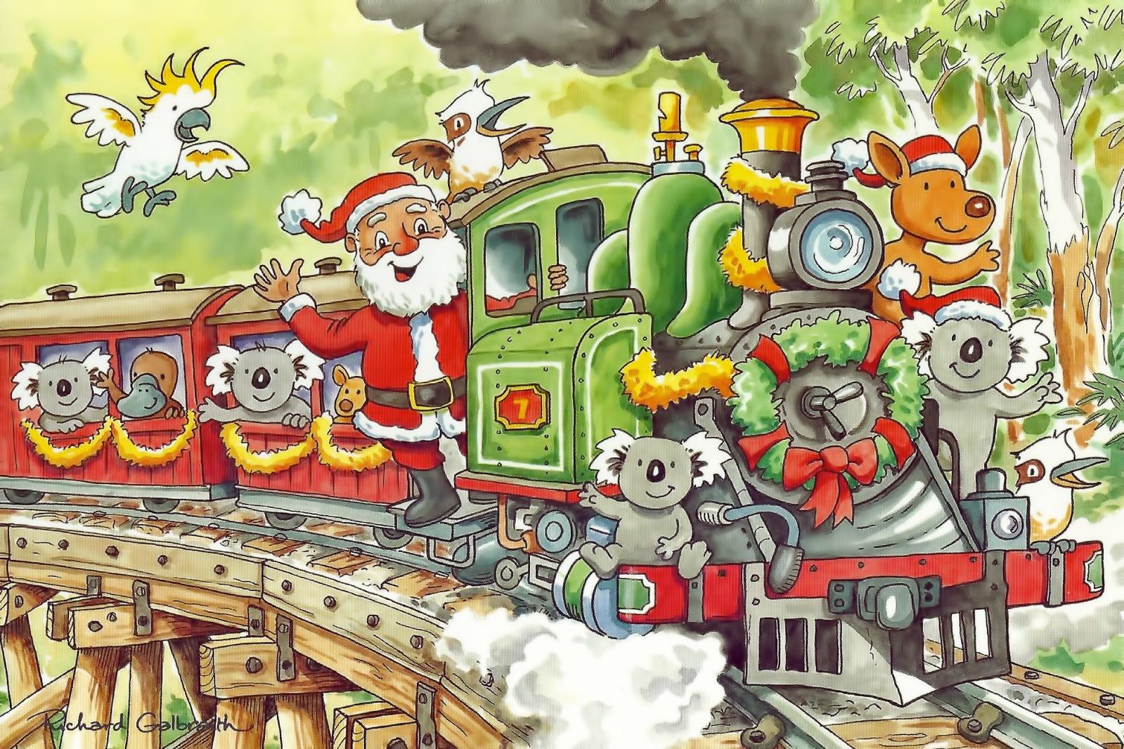 Aussie Santa Xmas Train