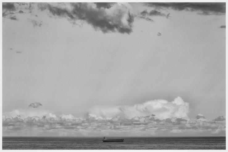 Tanker in Black & White