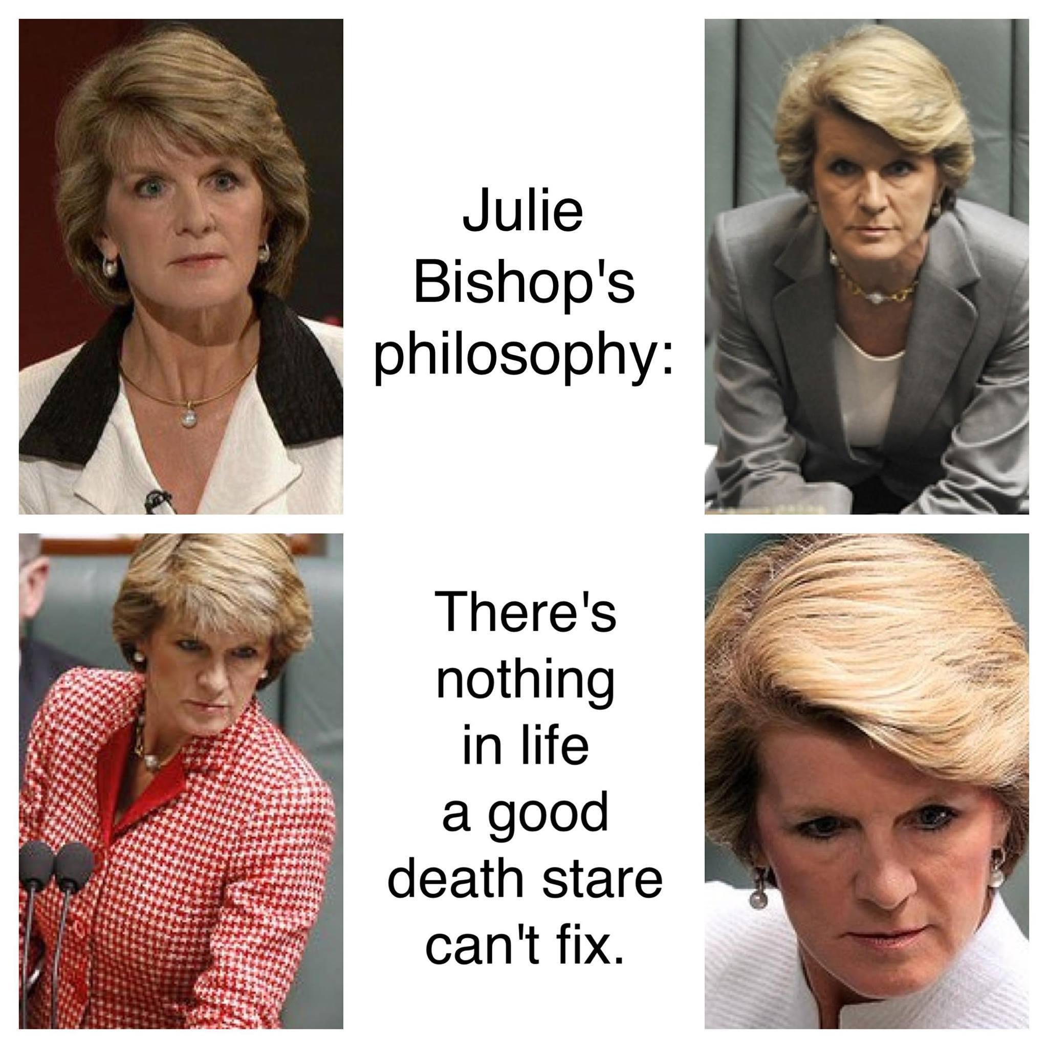 Julie Bishop's Death Stare