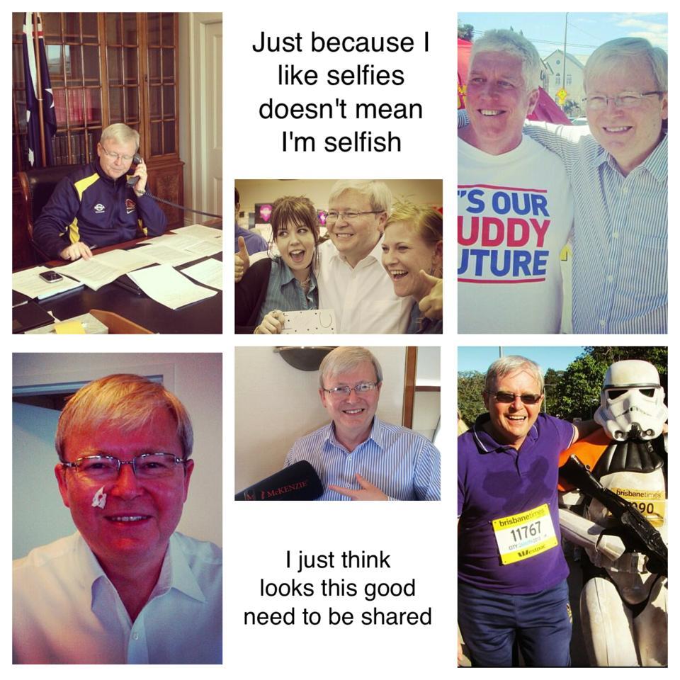 KRudd and the Selfie Craze