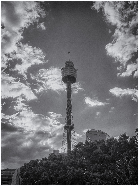 Sydney Tower in Black & White