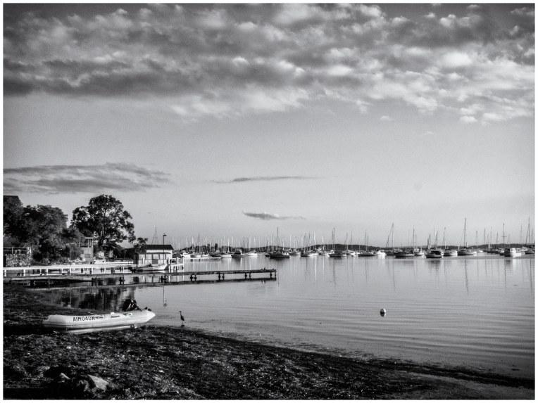 Across the lake in Black & White