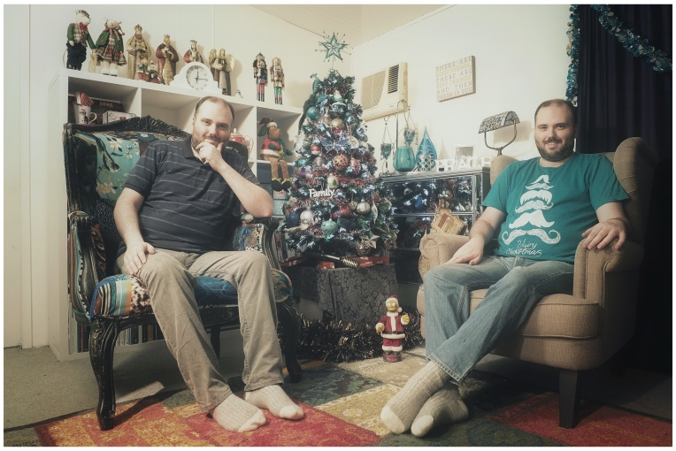 The Two CJs by the Tree
