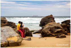 Couple on Redhead Beach