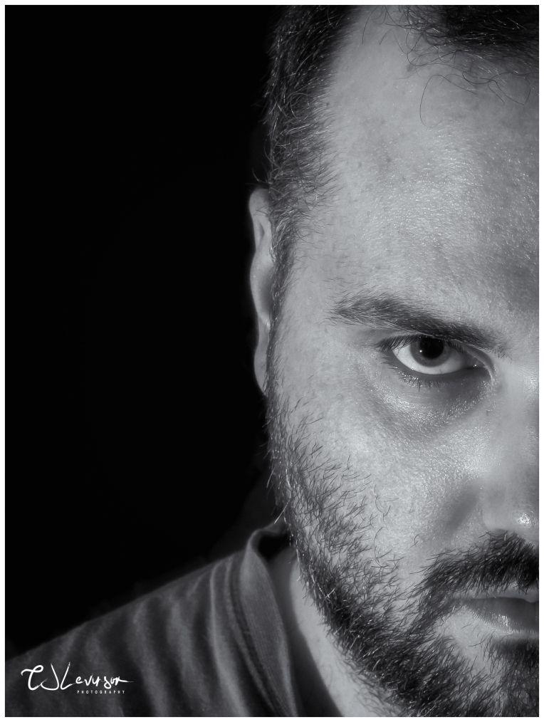 Self-Portrait in Black and White