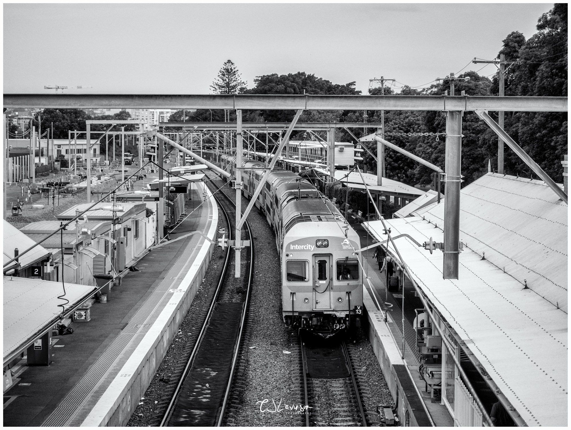 Train at Hamilton Station