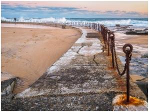On Newcastle Beach