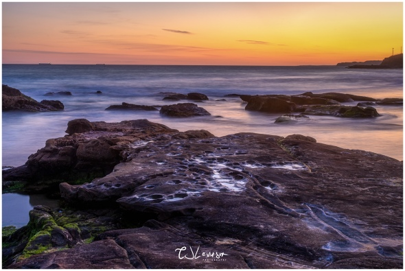Rocks on Newcastle Beach