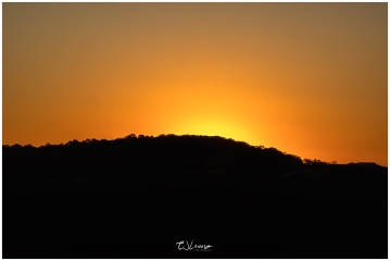 Sunset Over the Hills