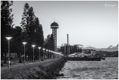 Along the Newcastle Foreshore B&W