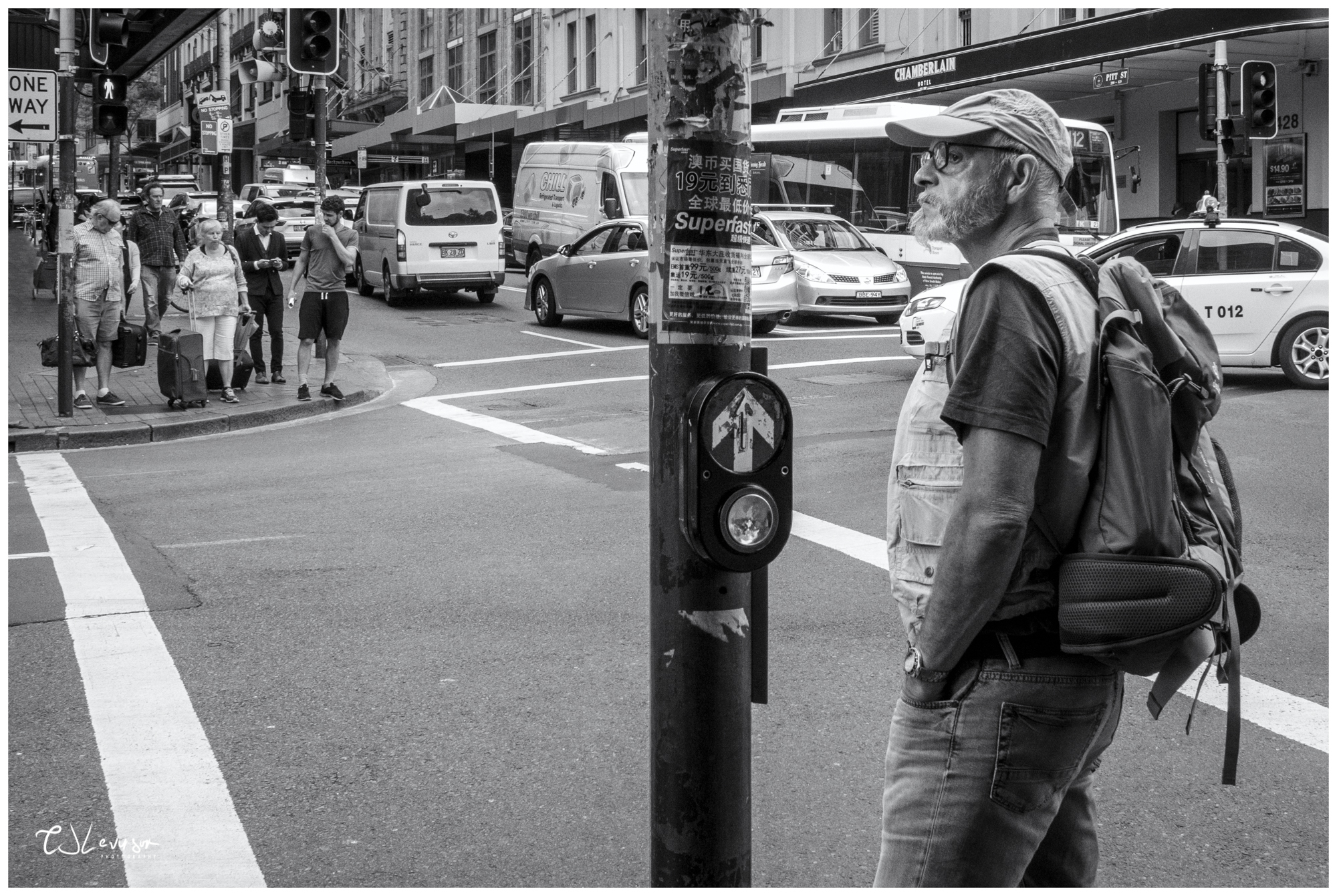 Pedestrian on Pitt Street